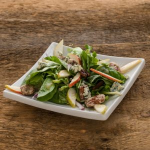 Pear, Blue Cheese and Candied Pecan Salad